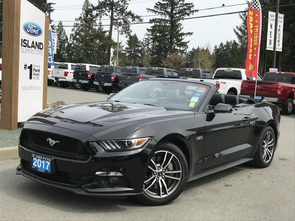 Certified Pre Owned 2017 Ford Mustang Gt Premium Convertible Heated Cooled Seats